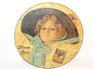 8: Satin Turkish cigarette Tin Litho Sign Round sign