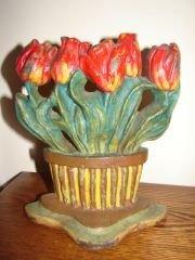 20: Cast Iron Tulip Door Stop