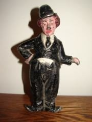 22: Cast Iron Charlie Chaplin Door Stop