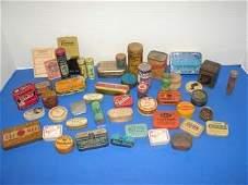 48 Group of 46 Miniature Advertising Tins Assortment o