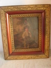 16: Print of Young boy in Gilt Frame