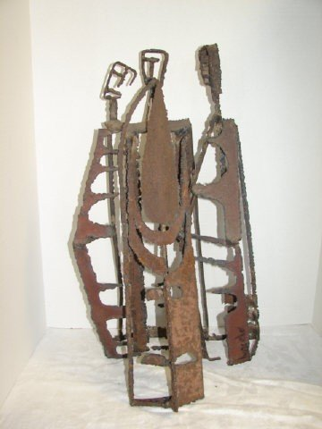 1: Metal Sculpture Signed Bascel