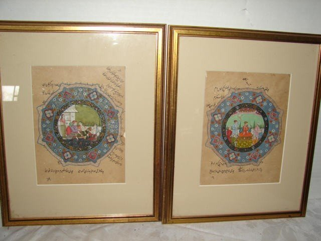 2: Pair of Persian Paintings on Paper