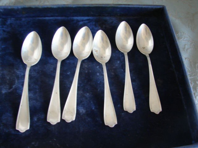 17: Alvin Sterling Silver Teaspoons  Set of 6