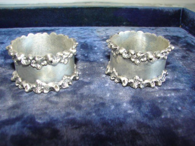 21: Pair of Sterling Silver Napkin Rings