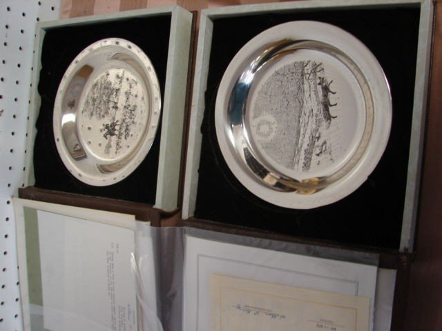 101C: Sterling Silver James Wyeth Plates