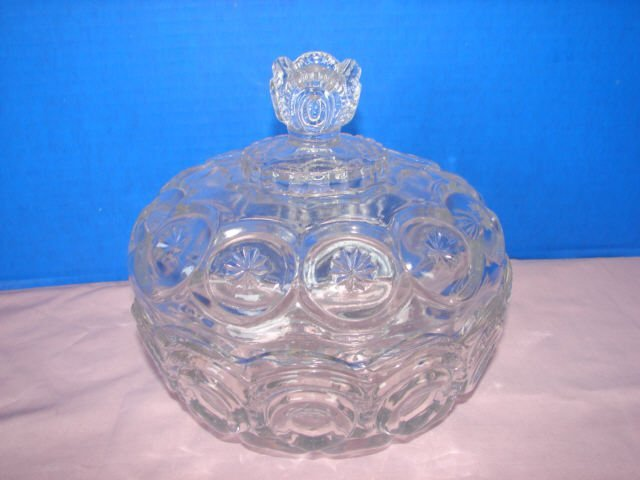 10: Moon & Star Pattern Glass Covered Dish
