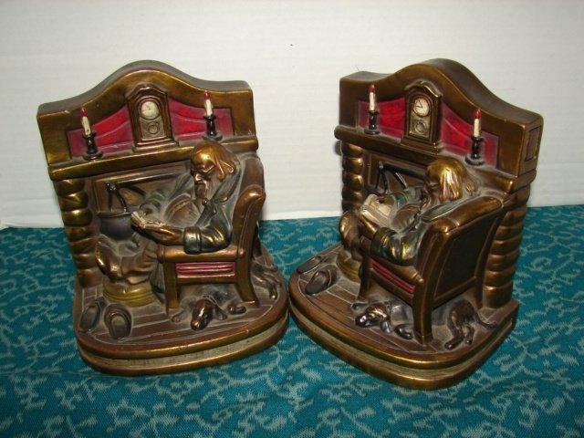 5: Bronze Clad Bookends