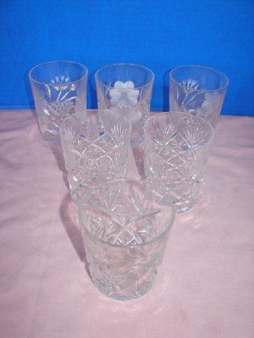 4: Group of Cut Glass Tumblers