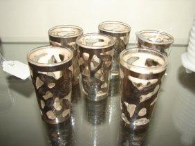 Sterling Silver Overlay Shot Glasses