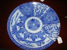 13: Oriental Blue & White Charger