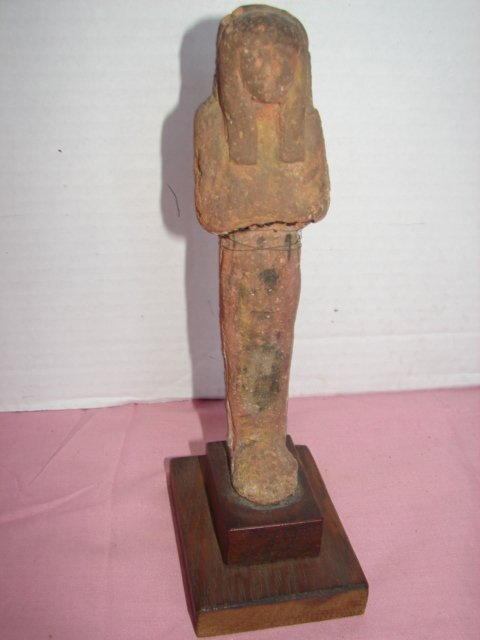 129: Clay Tomb Burial Egyptian Statue Figure