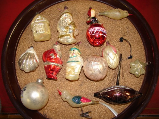 24: Group of Glass Christmas Tree Ornaments