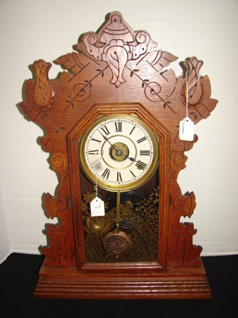 7: Seth Thomas Oak Gingerbread Clock