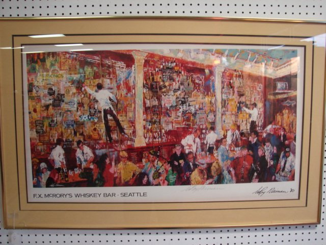 12: Signed Leroy Neiman Lithograph Seattle Whiskey Bar
