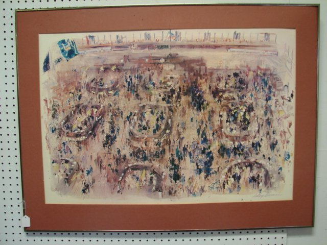 13: Leroy Neiman The Stock Exchange Lithograph Framed