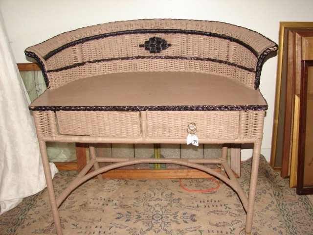 22: Wicker Desk
