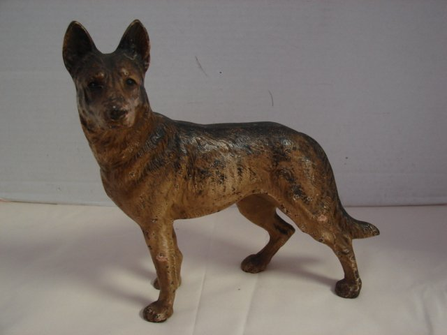 107: Cast Iron German Shepherd Dog Door Stop