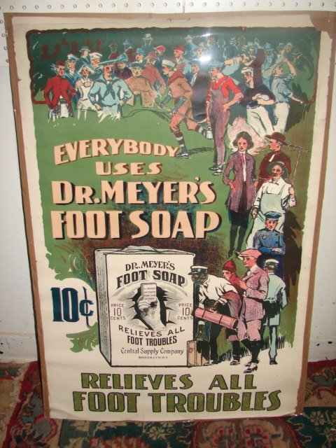 Dr. Myer's Foot Soap Advertising Poster