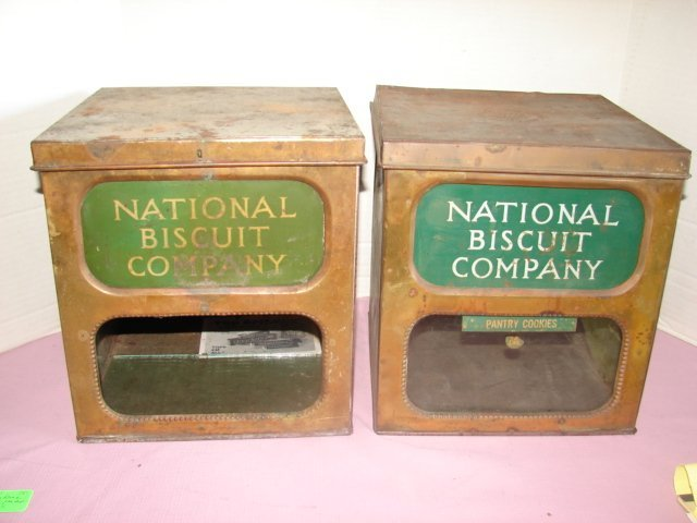 2 National Biscuit Store Display Tins