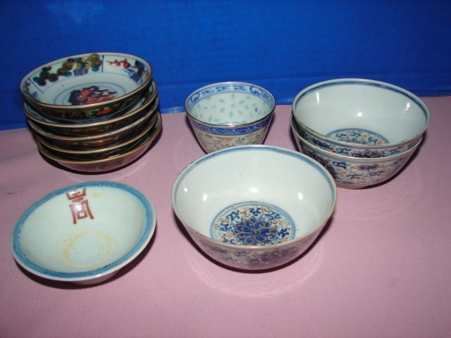 Group of 10 Oriental Bowls