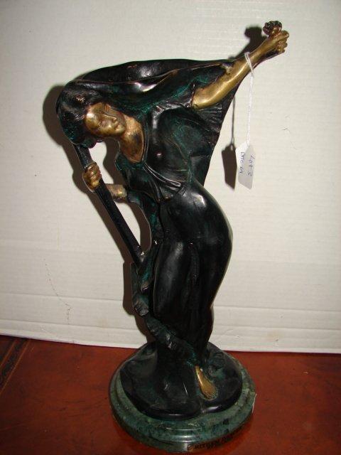 Bronze Art Nouveau Figure of Dancer by Villanis