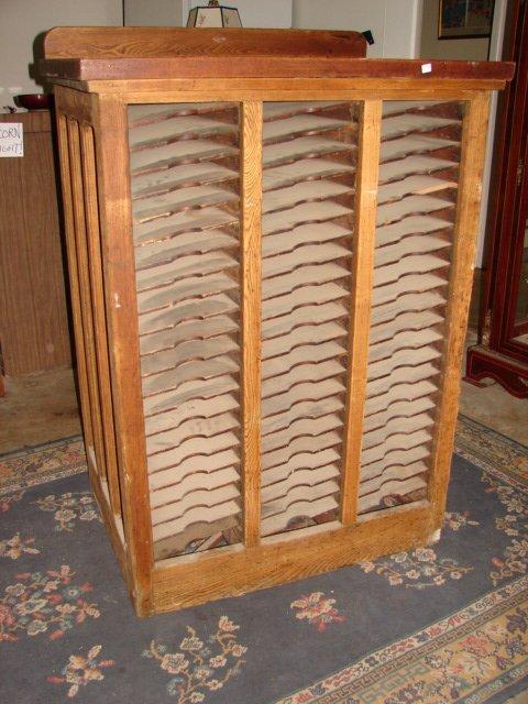 Oak Sheet Music Cabinet