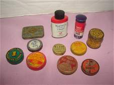 Group of Miniature Advertising Tins