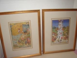 2 Persian Framed Prints 2 Framed Persian prints with