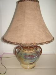 Fulper Style Pottery Table Lamp Unsigned pottery table
