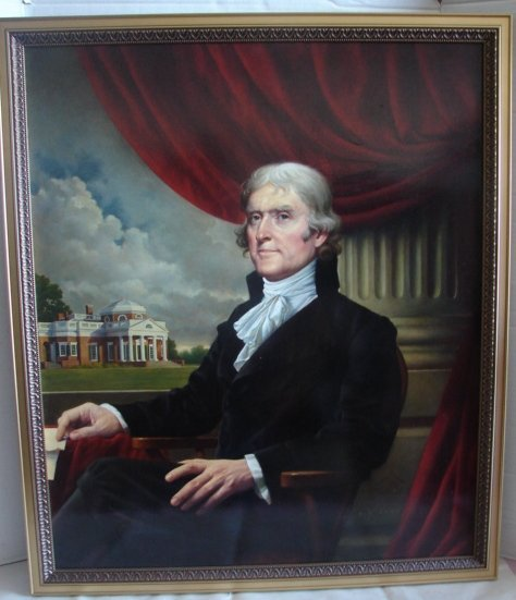 Painting of Thomas Jefferson by MJ Deas