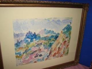 Watercolor Painting signed Marko Vukovic
