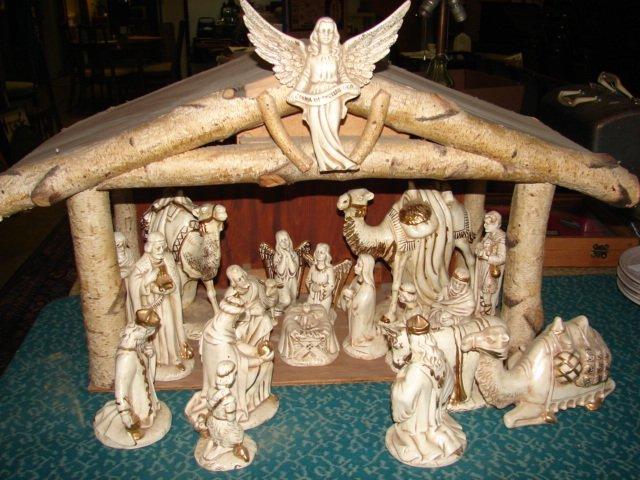 Tall Creche Nativity Scene