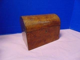 Burl Tea Caddy with Dome Top
