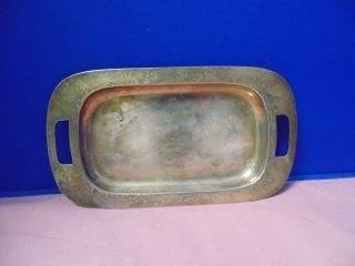 Hand Hammered Derby Silver Plate Tray