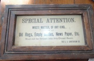 Small Sanitarium Sign