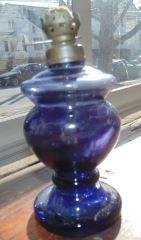 Purple Glass Oil Lamp