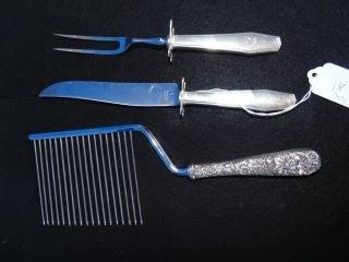 Kirk Sterling Cake Knife & Sterling Carving Set