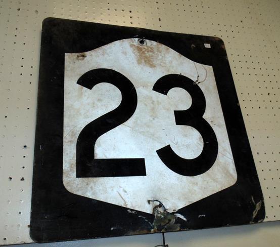 Vintage Route 23 Sign