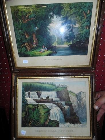 2 Currier & Ives Prints