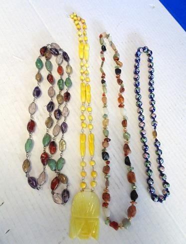 Lot of Stone Necklaces