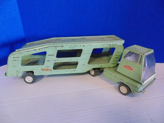 Metal Tonka Truck Car Carrier