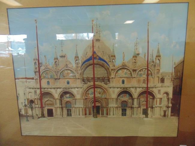 Venezia Basilica Des Marco Italian Print