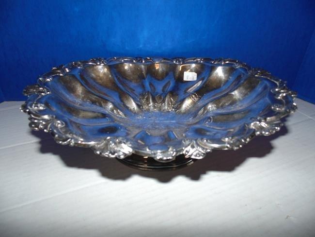 Silver Plate Pedestal Bowl