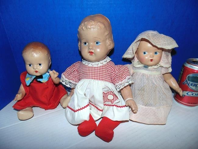 3 Composition Baby Dolls