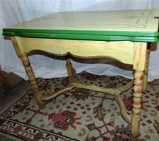 1930\'s Enamel Top Kitchen Table