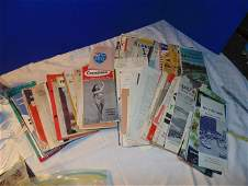 Lot of vintage maps and travel brochures