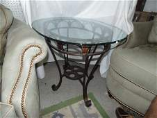 Oval Glass Top Table