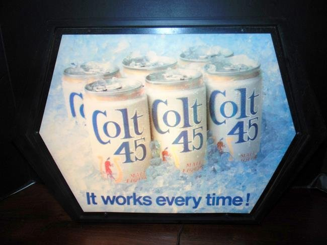 Colt 45 Beer Advertising Lighted Sign
