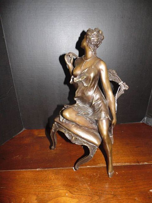 Bronze Figure of Woman